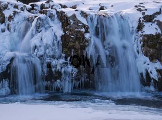 Langzeitbelichtung vom Kirkjufellsfoss Wasserfall