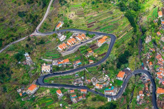 Blick in das Nonnental auf der Insel Madeira, Portugal