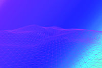 Simple vector background with polygon mesh and copyspace