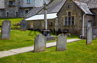The churchyard of St Michael the Archangel Church. Lyme Regis. West Dorset. England