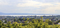 View over Lindau to Lake Constance, landscape, May
