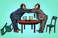 policy diplomacy and negotiations. Fight opponents