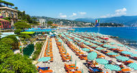 Beach in Portofino Liguria Italy