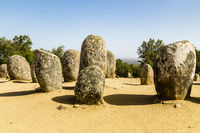 Almendres Cromlech, Évora, Portugal
