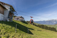 Mountain station with restaurant of the aerial cableway Gummenalp, Nidwalden, Switzerland, Europe
