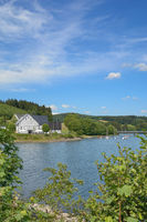Listertalsperre reservoir in Sauerland region,North Rhine westphalia,Germany