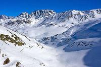 Tal Combe de Morts beim Grossen St. Bernhard Pass