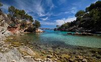Picturesque beach Calo de ses Llises, Calvia, Mallorca Island, Baleares, Spain