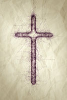 holy cross ballpoint pen scribble