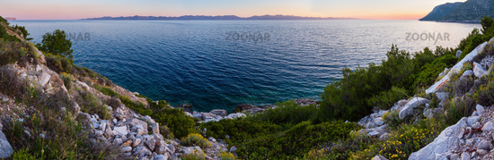 Evening summer coastline (Ston, Croatia)