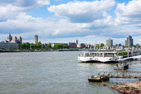 Ship at the river Rhine in Cologne