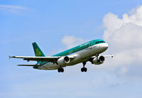 Air Lingus Airbus A320-214 approaching the airport