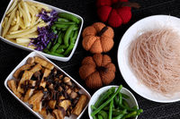 Food ingredients, vegetables rice vermicelli