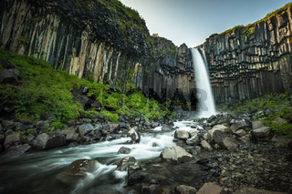 Svartifoss or Black Waterfall in Iceland