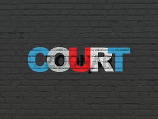 Law concept: Court on wall background
