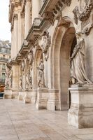 Paris, France, March 31, 2017: Opera National de Paris: Grand Opera Garnier Palace is famous neo-baroque building in Paris. The Palais is a 1,979-seat opera house, which was built from 1861 to 1875