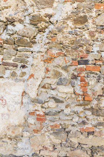 Details einer alten Mauer   Details of an old wall