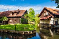 Gebäude im Spreewald in Lehde