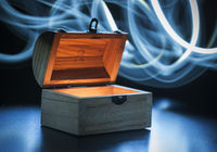 small treasure chest light brushed