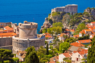 Dubrovnik walls and Minceta tower view