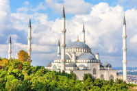 Camlica Mosque of Istanbul, Turkey, side view