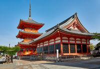 Pagoda of Kiyomizu dere Temple in Kyoto, Japan