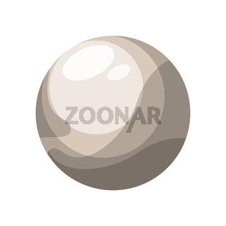 Pluto vector illustration on white background