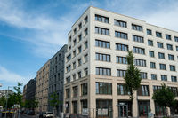 Berlin, Germany, New residential and commercial building along Heidestrasse in the Europacity