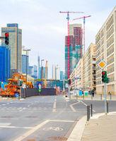 Frankfurt urban cityscape construction, Germany