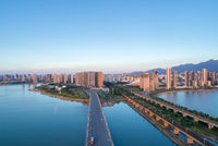 jiujiang cityscape at dusk