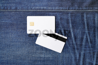 Two blank credit cards