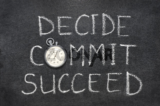 decide, commit, succeed