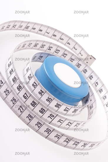 Measure tape isolated on white background. Weight loss and measurement concept.
