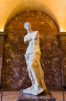 Venus of Milo statue in the Louvre Museum