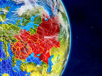 Eastern Europe on Earth with networks