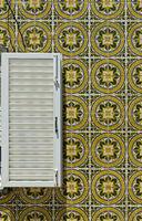 Decorative tiles at a residential building, Santa Luzia, Algarve, Portugal