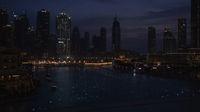 Illuminations in a night Burj Khalifa Lake stock footage video