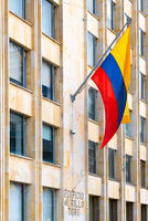 Bogota city flag of Colombia