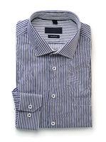 Blue striped folded shirt