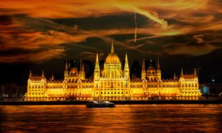 Illuminated Budapest Parliament