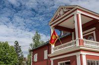 Montenegro flag on King Nikola Museum