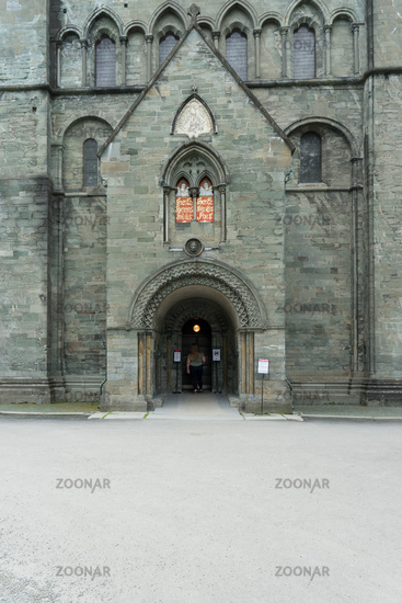 North Portal of Nidaros Cathedral in Trondheim