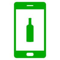 Flasche und Smartphone - Bottle and smartphone