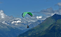 paragliding in the zillertaler aps, austira, europe