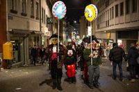 Carnival of Basel 2019 at night