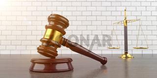 Judge Gavel Beam Balance