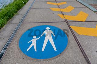 Pedestrians Lane Sign