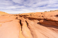 Above Lower Antelope Canyon