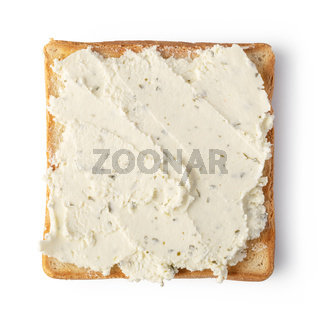 toast bread with cream cheese