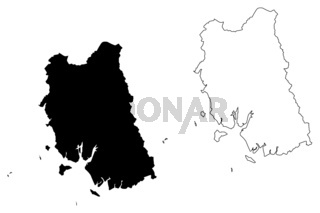 Trang Province map vector